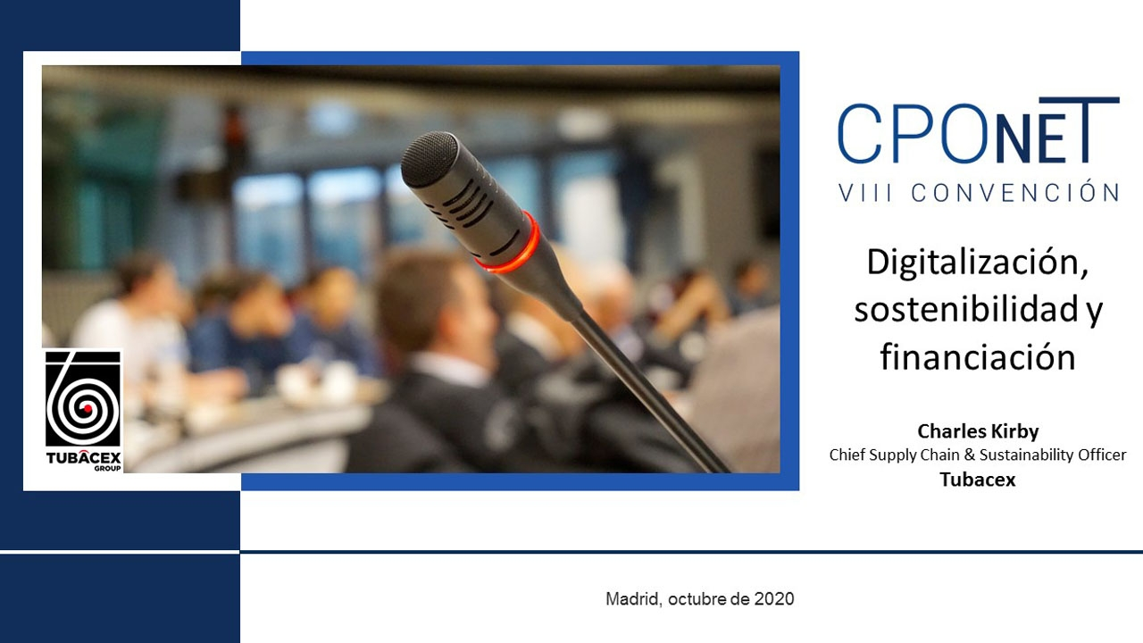 CPOnet 2020 | Charles Kirby, Chief Supply Chain & Sustainability Officer en Tubacex
